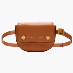 J crew brown Bristol convertible leather fanny pac